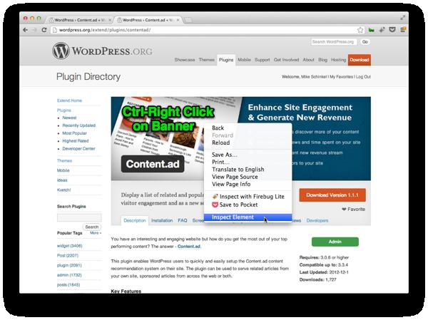 "Screenshot showing Chrome's ""Inspect Element"" Developer Tool"