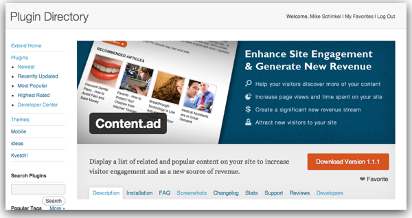 Banner Image for Content.ad's Plugin Page on WordPress.org