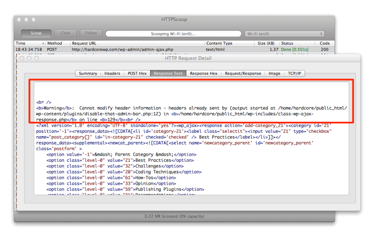 HTTP Response Errors with Extra Whitespace in HTTP Scoop