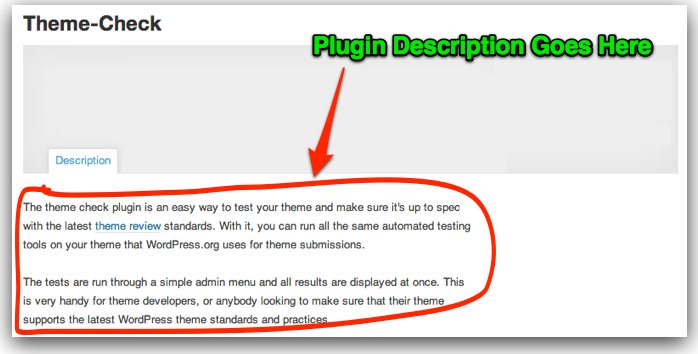 How a WordPress plugin page will look immediately after approval