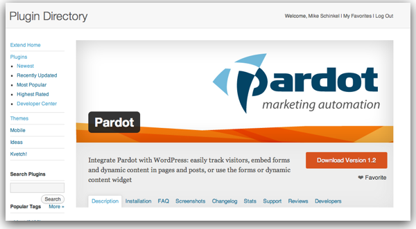 Banner Image for Pardot's Plugin Page on WordPress.org